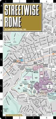 Streetwise Rome Map - Laminated City Center Street Map of Rome, Italy (Michelin Streetwise Maps) Cover Image