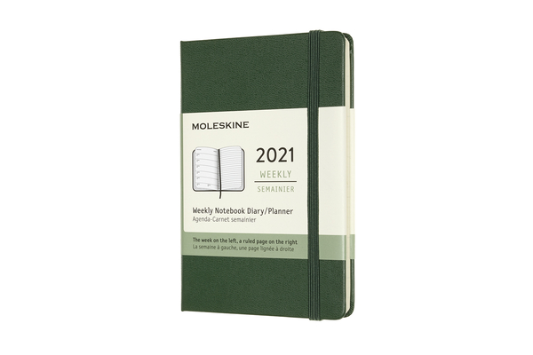 Moleskine 2021 Weekly Planner, 12M, Pocket, Myrtle Green, Hard Cover (3.5 x 5.5) Cover Image