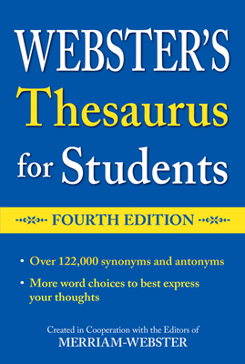 Webster's Thesaurus for Students, Fourth Edition Cover Image
