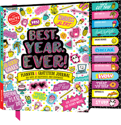 Best Year Ever: Planner & Gratitude Journal:365 Days of Happiness and Kindness Cover Image