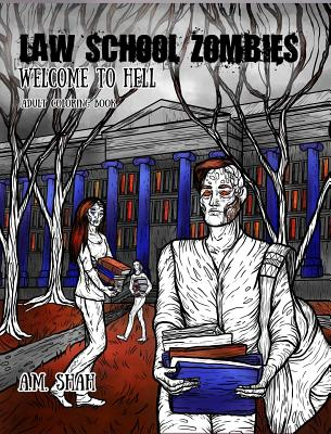 Law School Zombies Welcome To Hell: Adult Coloring Book Cover Image