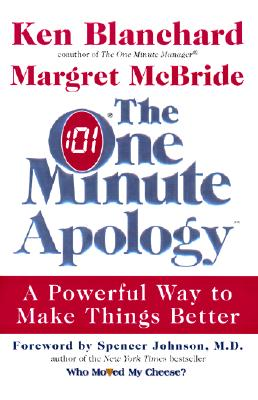 The One Minute Apology Cover