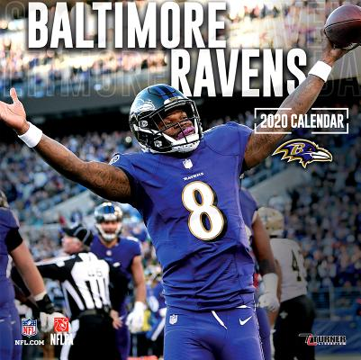Baltimore Ravens: 2020 12x12 Team Wall Calendar Cover Image