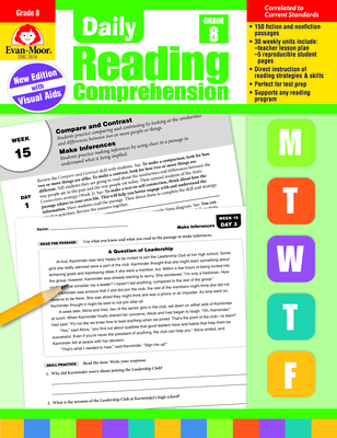 Daily Reading Comprehension, Grade 8 Cover Image
