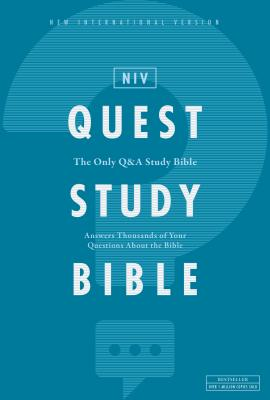 Niv, Quest Study Bible, Hardcover, Comfort Print: The Only Q and A Study Bible Cover Image