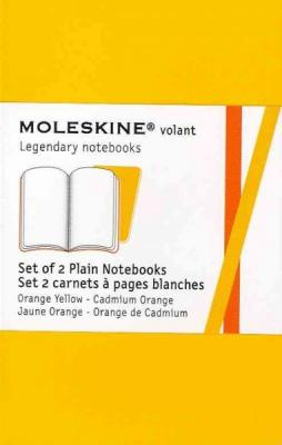 Moleskine Volant Notebook (Set of 2 ), Extra Small, Plain, Orange Yellow, Cadmium Orange (2.5 x 4): Set of 2 Cover Image