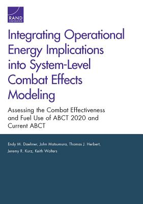 Integrating Operational Energy Implications Into System-Level Combat Effects Modeling: Assessing the Combat Effectiveness and Fuel Use of Abct 2020 an Cover Image