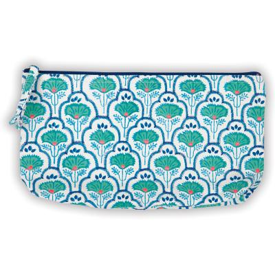 Petal and Vine Handmade Embroidered Pouch Cover Image