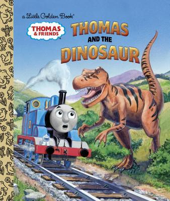 Thomas and the Dinosaur (Thomas & Friends) (Little Golden Book) Cover Image