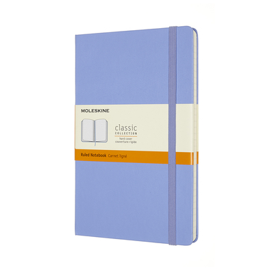 Moleskine Classic Notebook, Large, Ruled, Hydrangea Blue, Hard Cover (5 X 8.25) Cover Image