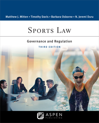 Sports Law: Governance and Regulation (Aspen Paralegal) Cover Image