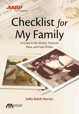 Aba/AARP Checklist for My Family: A Guide to My History, Financial Plans and Final Wishes Cover Image