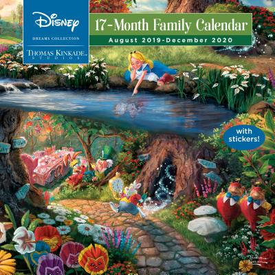 Thomas Kinkade Studios: Disney Dreams Collection 2019-2020 17-Month Family Wall Cover Image