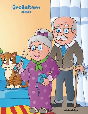 Großeltern-Malbuch 1 Cover Image