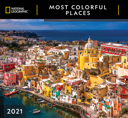 Cal 2021- National Geographic Most Colorful Places Wall Cover Image