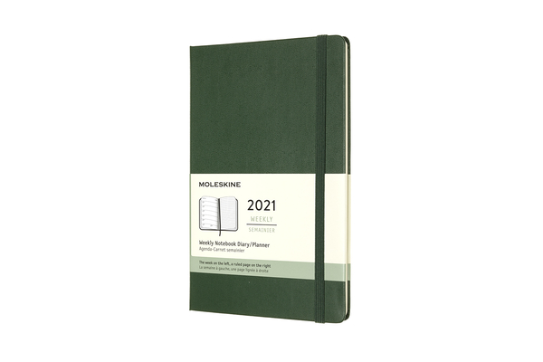 Moleskine 2021 Weekly Planner, 12M, Large, Myrtle Green, Hard Cover (5 x 8.25) Cover Image