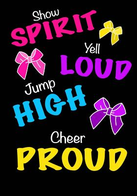 Jump High! Cheer Proud! (Cheerleading Journal for Girls): Blank & Lined Journal Notebook for Kids; Cute Journal for Use as Daily Diary or School Noteb Cover Image
