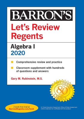 Let's Review Regents: Algebra I 2020 (Barron's Regents NY) Cover Image