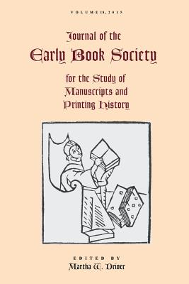 Journal of the Early Book Society Vol. 18 Cover Image