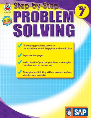 Math Step-By-Step Problem Solving, Grade 7 (Singapore Math) Cover Image