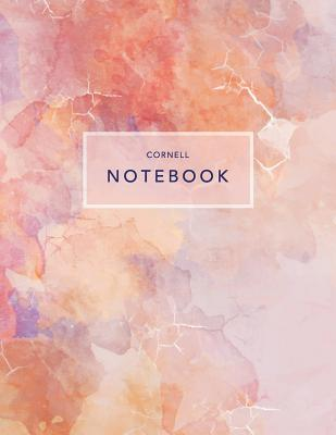 Cornell Notebook: Pink Marble - 120 White Pages 8.5x11