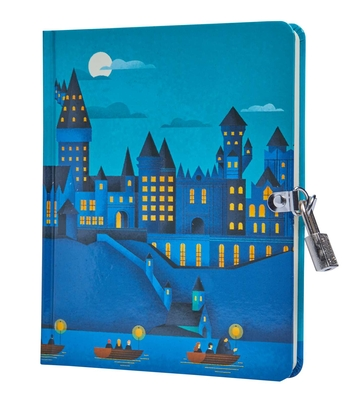 Harry Potter: Hogwarts Castle Glow-in-the-Dark Lock & Key Diary Cover Image