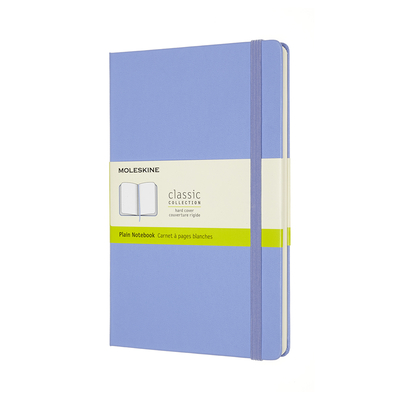Moleskine Classic  Notebook, Large, Plain, Hydrangea Blue, Hard Cover (5 x 8.25) Cover Image