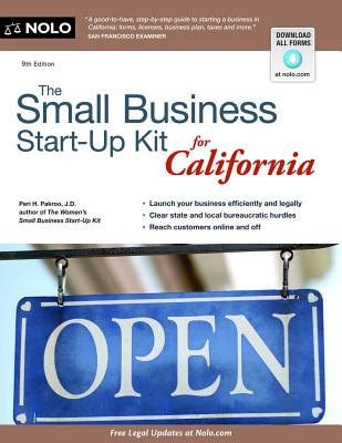The Small Business Start-Up Kit for California Cover