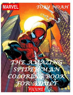 The Amazing Spiderman Coloring Book for Adult - Volume 1 Cover Image