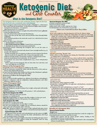 Ketogenic Diet & Carb Counter: A Quickstudy Laminated Reference Guide Cover Image