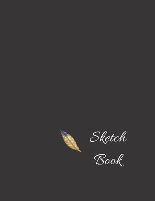 Sketchbook: Black Cover Sketch Book for Drawing, Sketching, 120 pages, (8.5