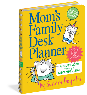 Mom's Family Desk Planner 2021 Cover Image