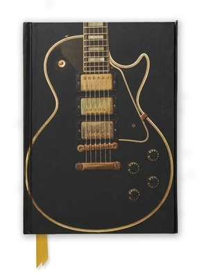 Gibson Les Paul Black Guitar (Foiled Journal) (Flame Tree Notebooks #38) Cover Image