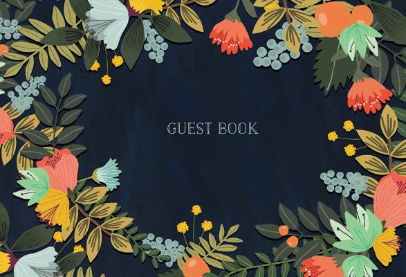 Guest Book: Modern Floral Edition Cover Image