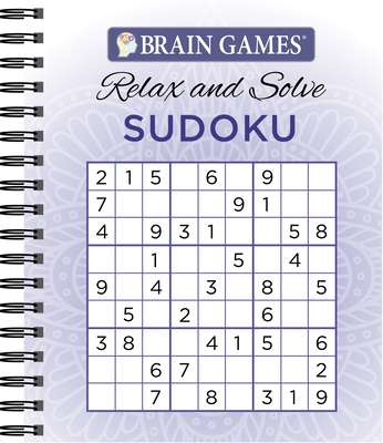 Brain Games - Relax and Solve: Sudoku (Purple) Cover Image