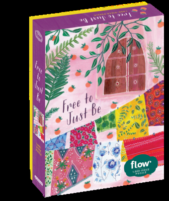 """Free to Just Be 1,000-Piece Puzzle: (Flow) for Adults Families Picture Quote Mindfulness Game Gift Jigsaw 26 3/8"""" x 18 7/8"""" Cover Image"""