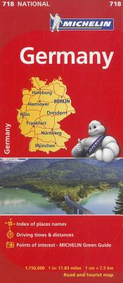 Michelin Germany Map 718 (Maps/Country (Michelin)) Cover Image
