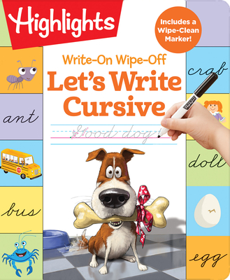 Write-On Wipe-Off Let's Write Cursive (Highlights Write-On Wipe-Off Fun to Learn Activity Books) Cover Image