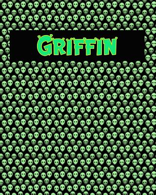 120 Page Handwriting Practice Book with Green Alien Cover Griffin: Primary Grades Handwriting Book Cover Image