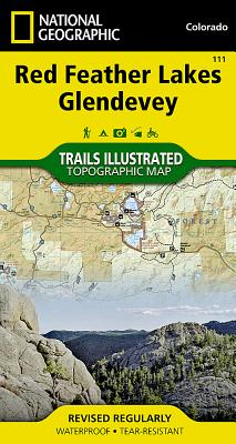 Red Feather Lakes, Glendevey (National Geographic Trails Illustrated Map #111) Cover Image