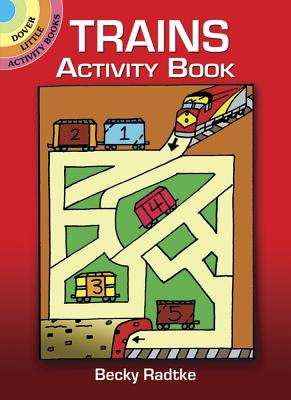Trains Activity Book (Dover Little Activity Books) Cover Image