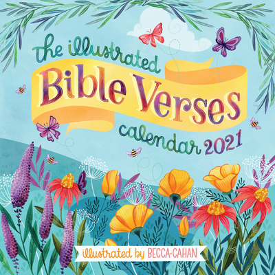 The Illustrated Bible Verses Wall Calendar 2021 Cover Image