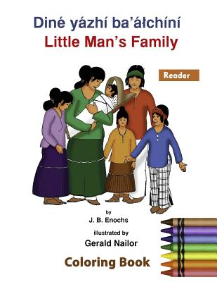 Little Man's Family Coloring Book: The Reader Cover Image