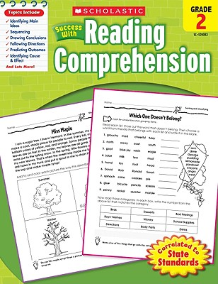 Scholastic Success With Reading Comprehension: Grade 2 Workbook Cover Image