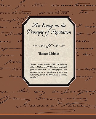 An Essay on the Principle of Population Cover