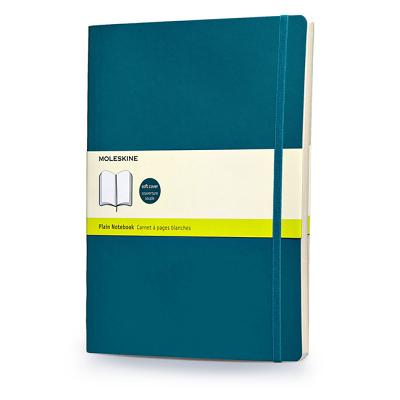 Moleskine Classic Colored Notebook, Extra Large, Plain, Underwater Blue, Soft Cover (7.5 x 10) Cover Image