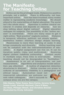 The Manifesto for Teaching Online Cover Image