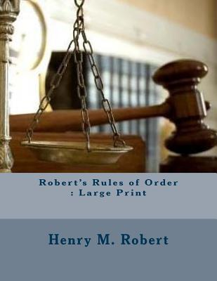 Robert's Rules of Order: Large Print Cover Image