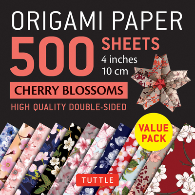 Origami Paper 500 Sheets Cherry Blossoms 4 (10 CM): Tuttle Origami Paper: High-Quality Double-Sided Origami Sheets Printed with 12 Different Patterns Cover Image