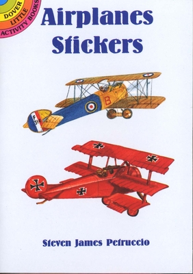 Airplanes Stickers [With Stickers] (Dover Little Activity Books) Cover Image